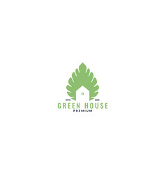 Plant leaves and home or house or garden logo vector