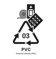 Polyvinyl chloride icon simple style vector