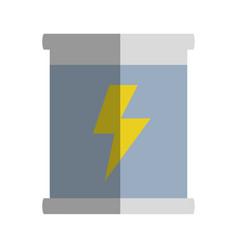 Poster with energy hazard symbol vector