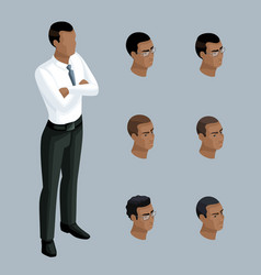 qualitative isometry businessman african american vector image