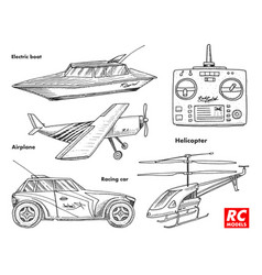 Rc transport remote control models toys design vector