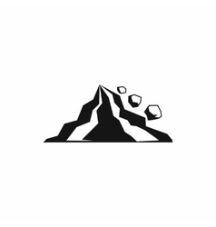 Rockfall icon in simple style vector
