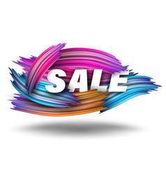 sale banner brushstroke oil vector image