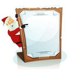 Santa claus pointing christmas background vector