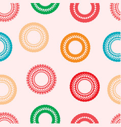 seamless background with unusual circles vector image