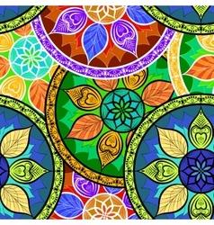 Seamless Colour Mandala Pattern vector