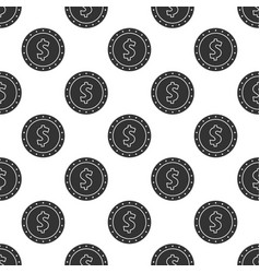 Seamless pattern from dollar coin vector