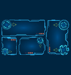 set futuristic empty frames with hud elements vector image