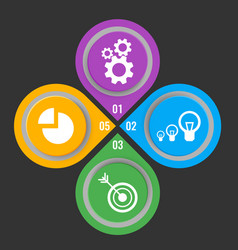 set icons in buttons with mechanical gears vector image