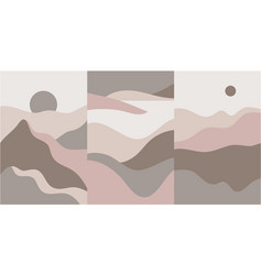 set mountain abstract landscape vector image
