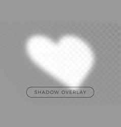 Shadow heart overlay effects for mockup vector