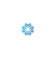 shape geometry technology logo vector image