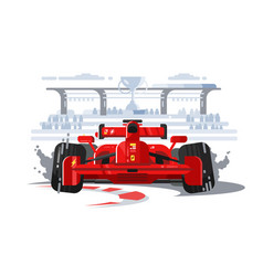 sport car in race vector image