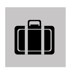 suitcase travel icon vector image