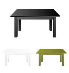 table set vector image