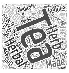 Tea Herbal Tea text background wordcloud concept vector image