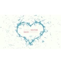 Triangle mosaic heart vector