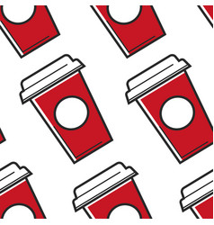 usa drink soda or cola seamless pattern beverage vector image