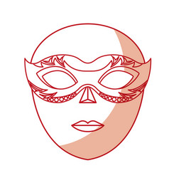 venice mask icon vector image