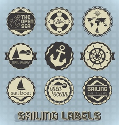 Vintage Style Sailing Labels vector image