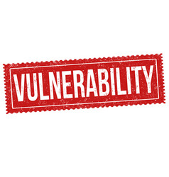 vulnerability sign or stamp vector image