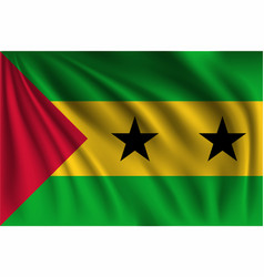 Waving sao tome and principe vector