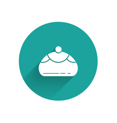 White jewish sweet bakery icon isolated with long vector