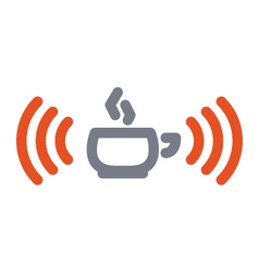 Wifi cup icon vector