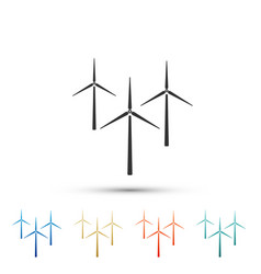 wind turbine icon isolated on white background vector image