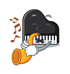 with trumpet piano mascot cartoon style vector image