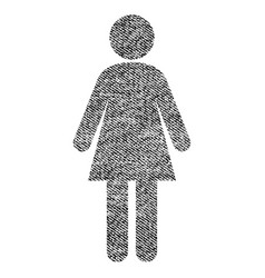 woman fabric textured icon vector image