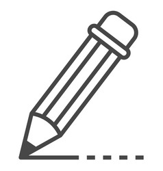 writing pencil icon outline style vector image