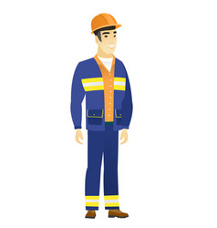 young asian confident builder vector image