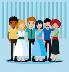 Young people cartoons vector