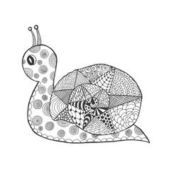 Zentangle stylized snail vector image