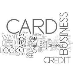 apply bad card credit credit online text word vector image