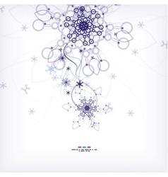 Blue Christmas snowflakes abstract Christmas card vector image