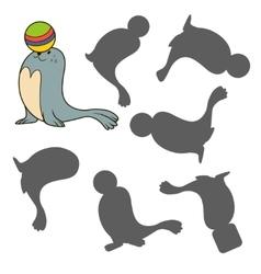 circus seal vector image