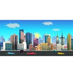 city game background 2d application vector image vector image