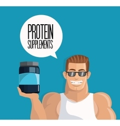 Icon of Protein Supplement design vector image
