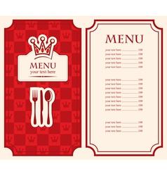 menu price vector image vector image