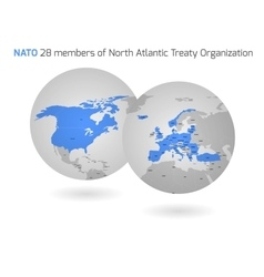 NATO member countries globes vector image