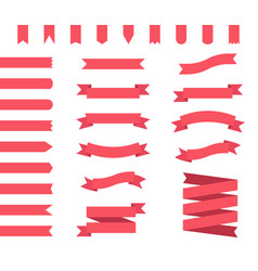 ribbon banners set vector image