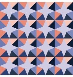 Seamless Geometric Triangle Stars Purple vector image
