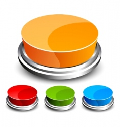 set of abstract glossy button vector image