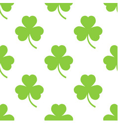 clover pattern on a white background vector image