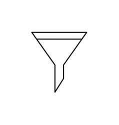 funnel icon vector image