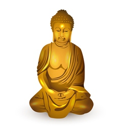 gold buddha vector image