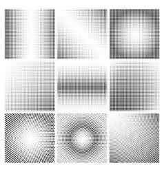 Halftone dots black and white backgrounds vector image vector image