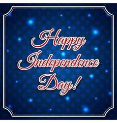 Independence day greeting card vector image vector image